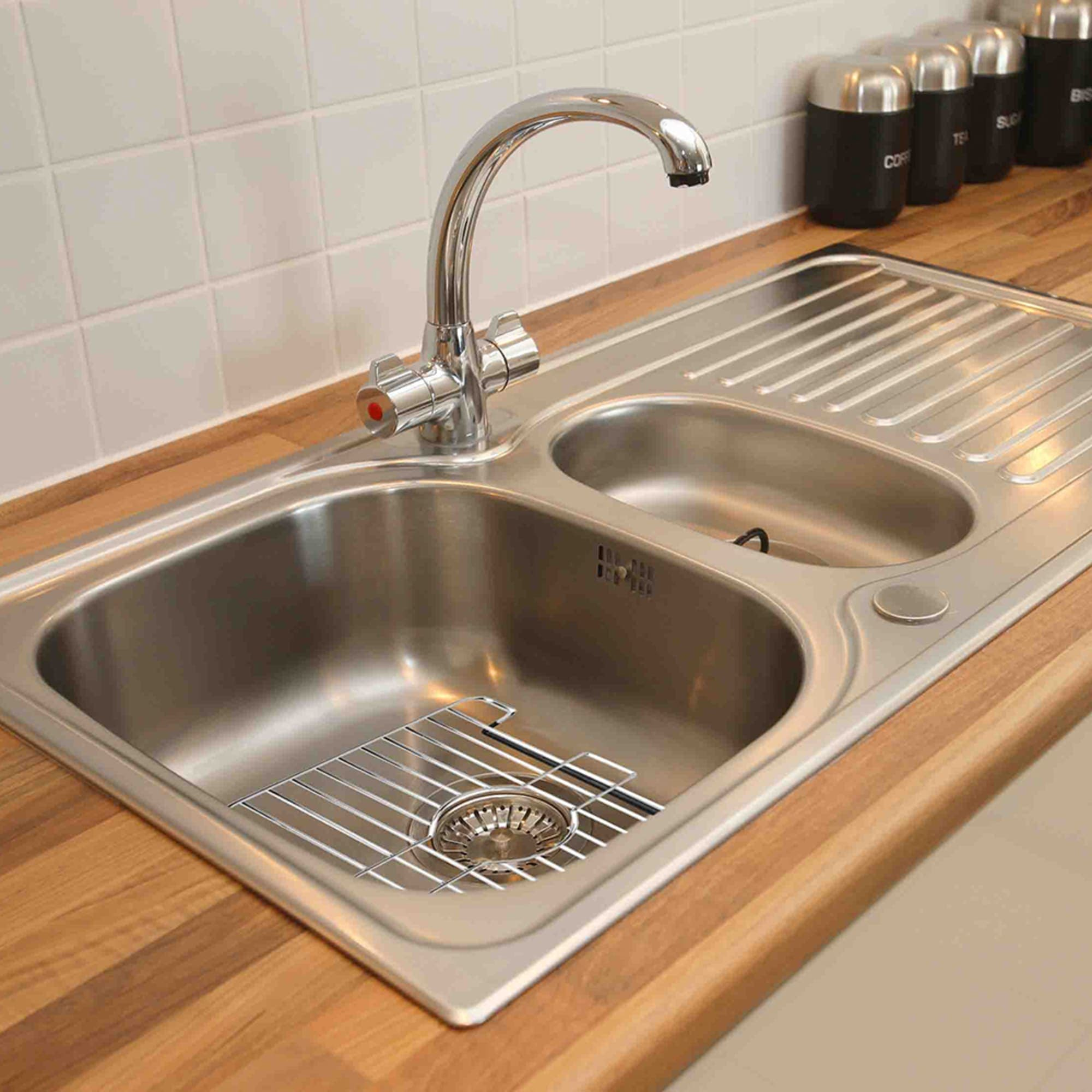 Small Rubber Coated Chrome Plated Steel Sink Protector