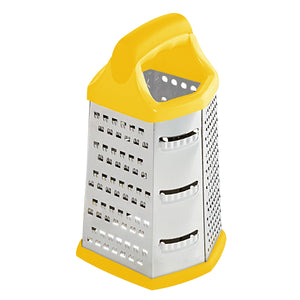 Home Basics Stainless Steel 6 Sided Cheese Grater - Yellow
