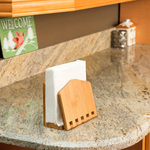 Bamboo Expandable Napkin Holder, Natural