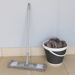 Chevron All Purpose Extending Chenille Mop with Telescopic Handle, Grey