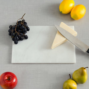 "8"" x 12"" Marble Cutting Board, White"