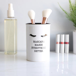Ceramic Cosmetic Cup Make Up Brush Cylinder Shaped Utensil Holder