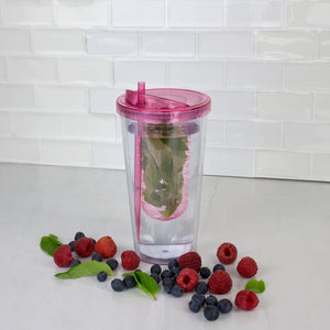 16 oz. Plastic Infuser Tumbler with Straw
