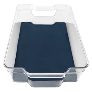 "Michael Graves Design 12.5"" x 8.25"" Fridge Bin with Indigo Rubber Lining"