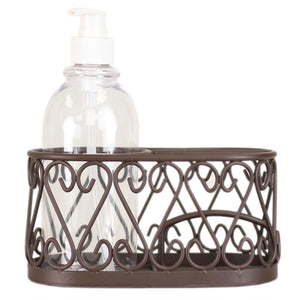 Scroll Collection Soap Dispenser with Caddy, Bronze
