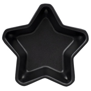 Home Basics Non-Stick Quick Release Steel Mini Bakeware Pan, Star - Black