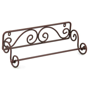 Scroll Collection Steel Wall Mounted Paper Towel Holder, Bronze