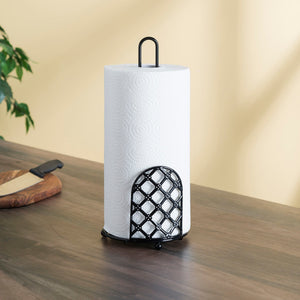 Lattice Collection Paper Towel Holder, Black