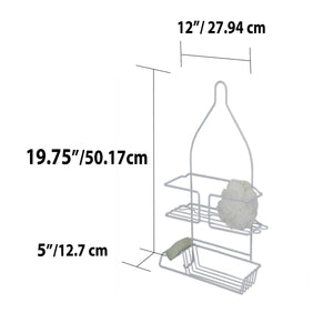 Vinyl Coated Steel Shower Caddy, White