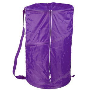 Sunbeam Mesh Barrel Laundry Hamper, Purple - Purple