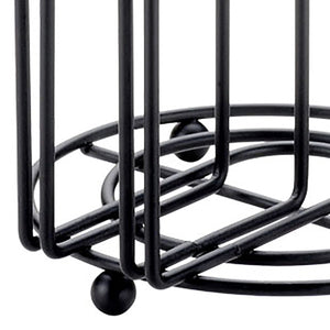 Double Wire Free Standing Paper Towel Holder, Black