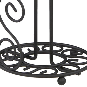 Scroll Collection Steel Paper Towel Holder, Black