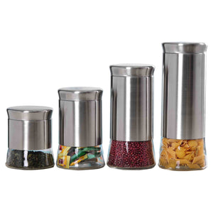 Essence Collection 4 Piece Stainless Steel Canister Set
