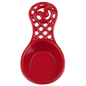 Cast Iron Rooster Spoon Rest, Red