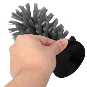 Standing Suction Cup Plastic Sink Brush, Black