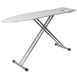 Sunbeam Extra Wide T-Leg Ironing Board with Built-In Metal Iron Rest, Silver