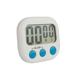 Digital Kitchen Timer, White