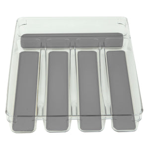 "9"" x 12"" Plastic Drawer Organizer with Rubber Liner"