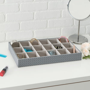 Faux Leather 18  Compartment Jewlery Organizer