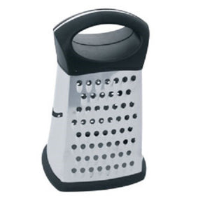 Home Basics Stainless Steel 4 Sided Cheese Grater - Black