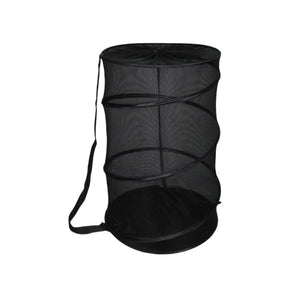 Sunbeam Mesh Barrel Laundry Hamper, Black - Black