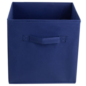 Collapsible and Foldable Non-Woven Storage Cube, Navy