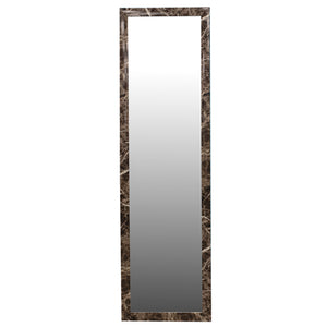 Home Basics Marble Full Length Over the Door Mirror