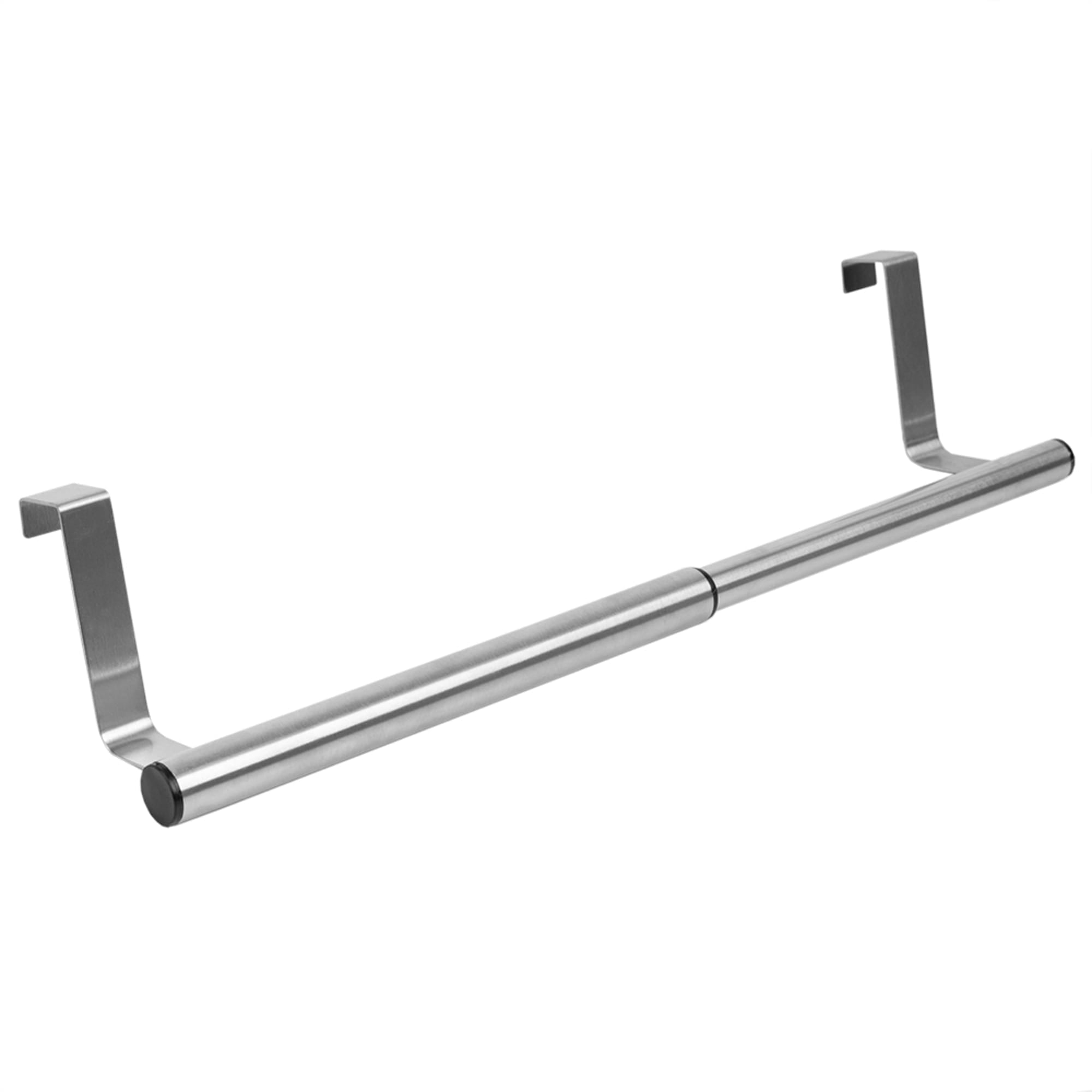 Over the Cabinet Door Quick Install Hanging Modern Expandable Steel Towel Storage Rack, Chrome