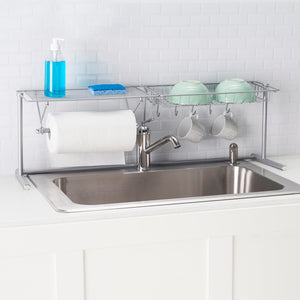 Over the Sink Counter Kitchen Station, Chrome