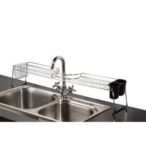 Chrome Plated Steel  Faucet Spacer Over the Sink Shelf with Cutlery Holder