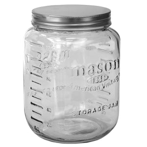 122 oz. Large Mason Glass Canister, Clear