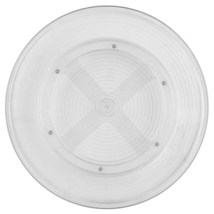 Smooth Spin Non-Skid Plastic Turntable, Clear