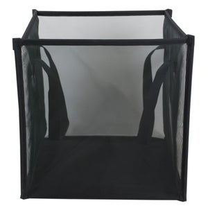Home Basics Breathable Micro Mesh Collapsible Laundry Cube with Handles, Black - Black