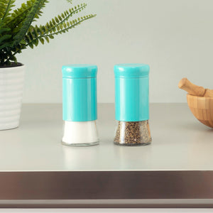 Essence Collection 2 Piece Salt and Pepper Set, Turquoise
