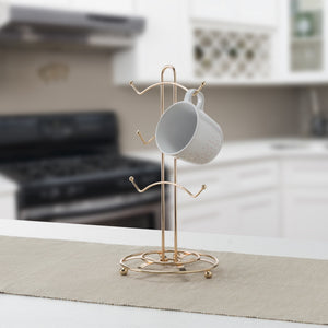 Lyon 6 Hook Mug Tree, Rose Gold