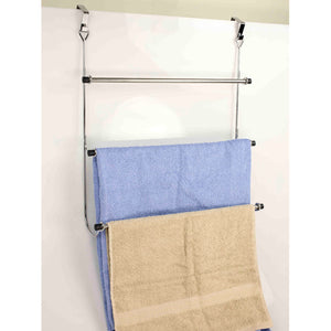 Over-the-Door Chrome Towel Rack