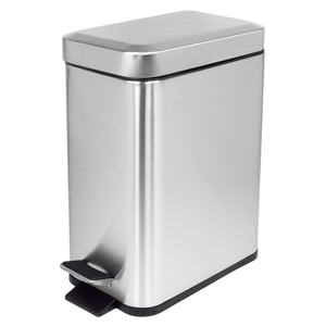 Home Basics 5 Liter Stainless Steel Slim Waste Bin