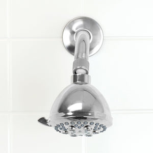 Refresh High Pressure Full Coverage 5 Function Fixed Shower Head, Chrome