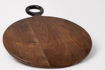 Acacia Wood Cutting Board Round - 13.75