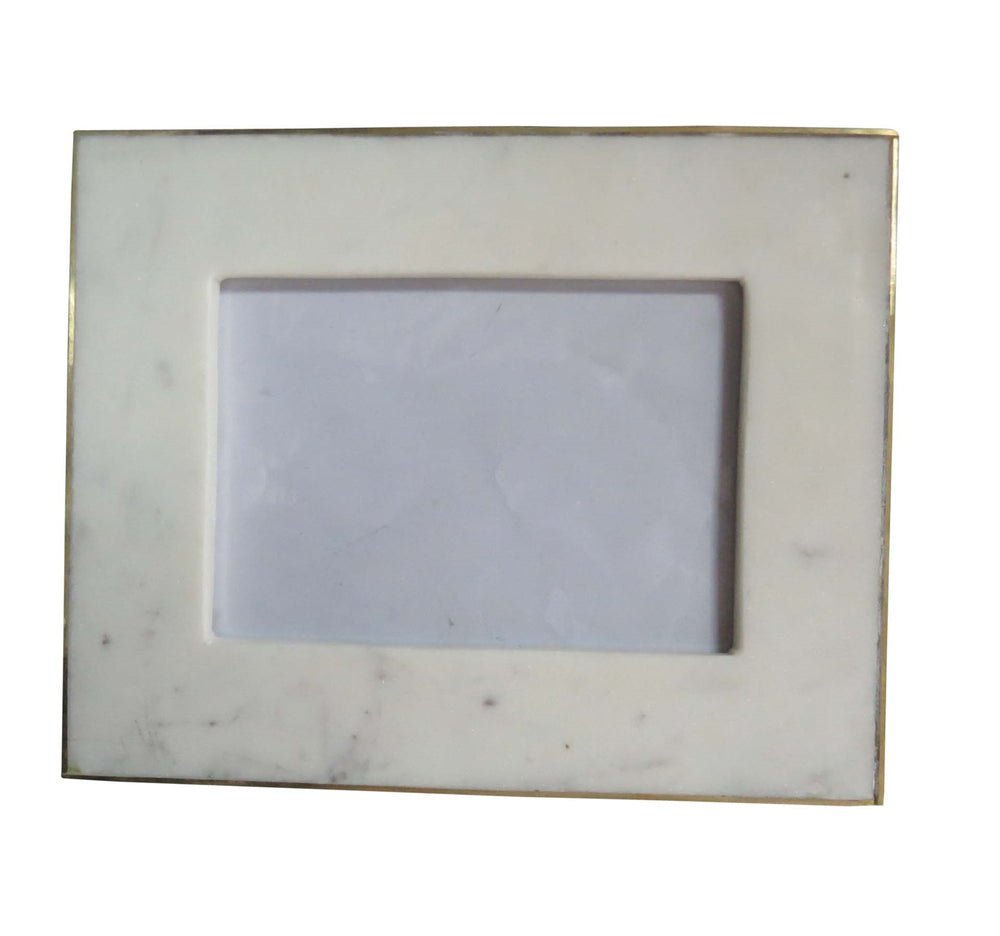 Load image into Gallery viewer, Stone & Brass 4x6 Photo Frame