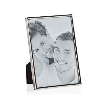Lino Silver Trim Photo Frames - Multiple Sizes