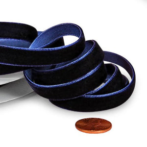 Navy Velvet Ribbon