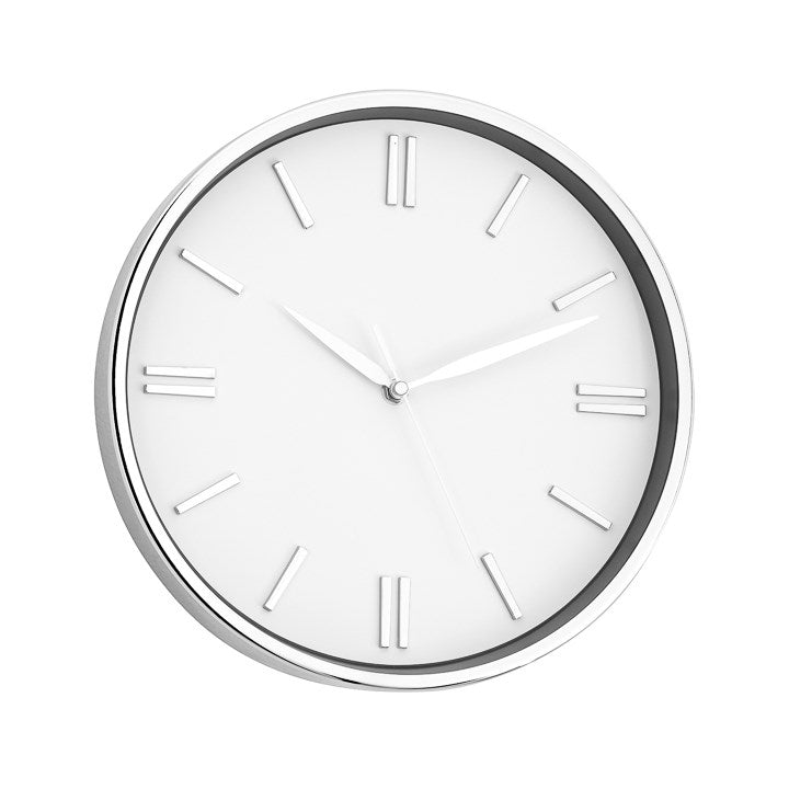 "12"" Lino Clock - White"