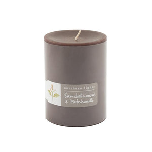 Load image into Gallery viewer, Sandalwood & Patchouli Pillar Candle - 3x4
