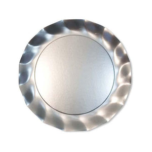 Wavy Dinner Plate Satin Silver