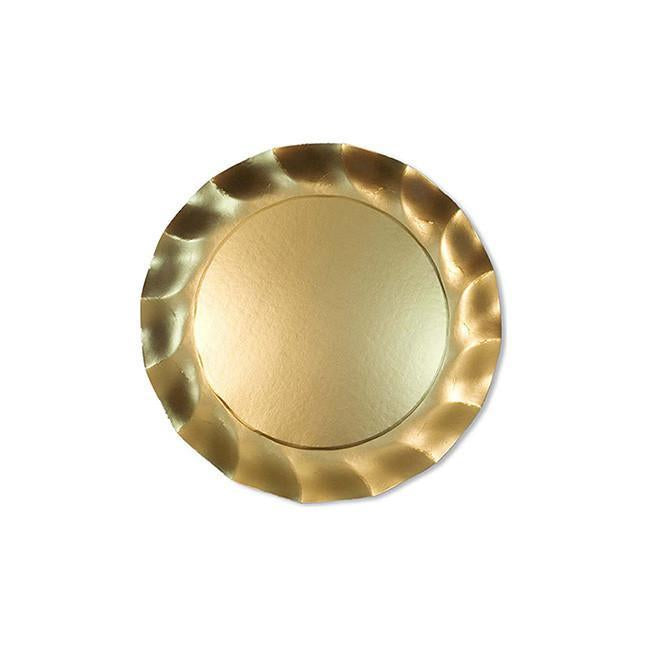Load image into Gallery viewer, Wavy Salad Plate Satin Gold