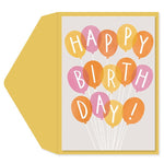 Birthday Balloons B'day Card