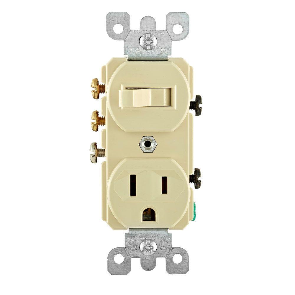 15A Combo 3-Way Toggle Switch x Receptacle