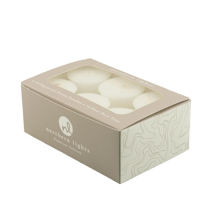 Unfragranced Votives - 6Pc