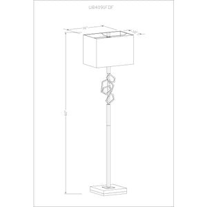 "Load image into Gallery viewer, 60"" Cosworth Standing Lamp"